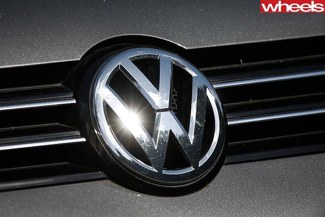 VW-badge -on -volkswagen -car
