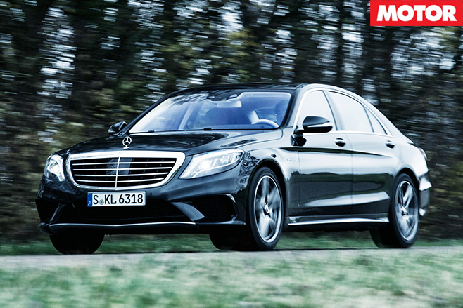 Mercedes-benz s63 driving