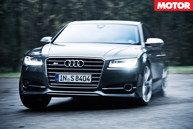 Audi s8 driving