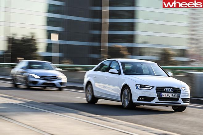 Audi -A4-and -Mercedes -C-Class