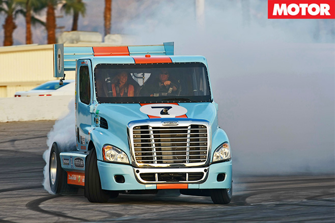 Pikes Peak Super Truck burnout2