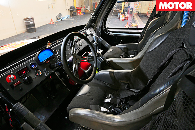 Pikes Peak Super Truck interior