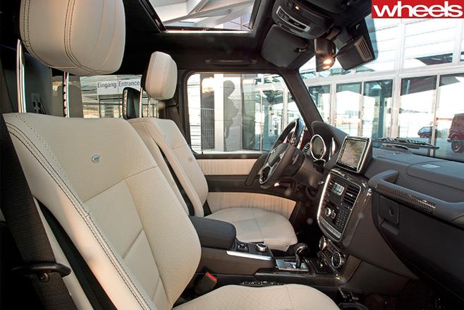 Mercedes -G500-interior -side -view
