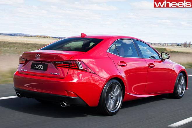 Lexus -Is 200t -rear