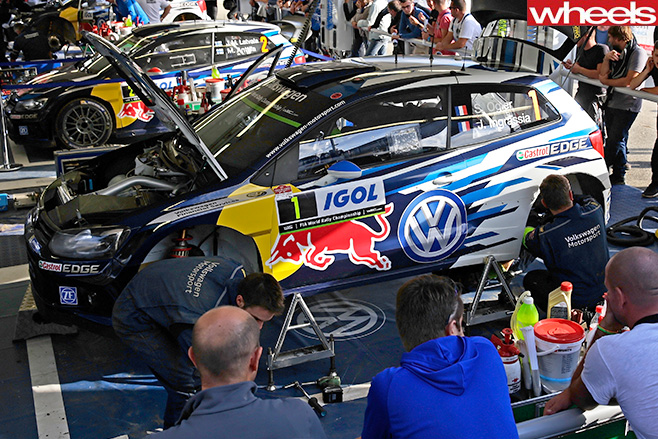 Volkswagen -Servicing -at -WRC