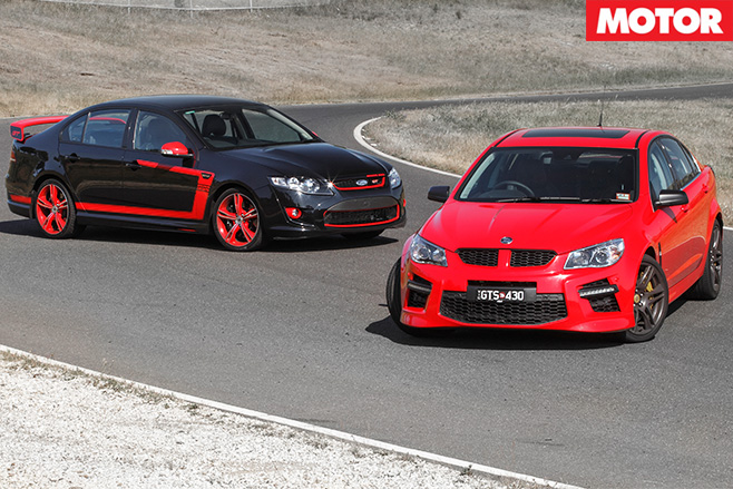 HSV GTS vs FPV GT R-Spec still