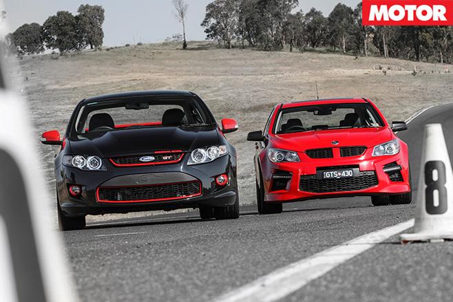 HSV GTS vs FPV GT R-Spec front