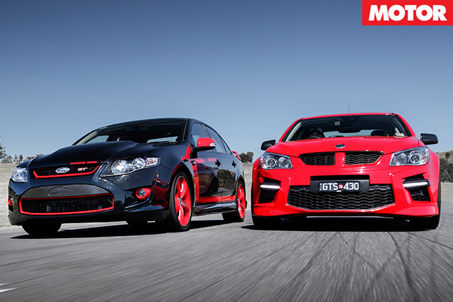 HSV GTS vs FPV GT R-Spec driving