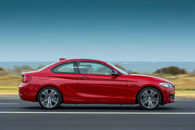BMW 228i coupe red 1