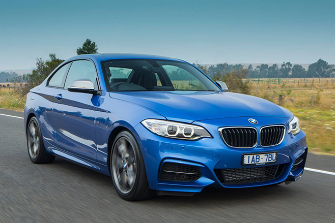 BMW 228i coupe blue 1