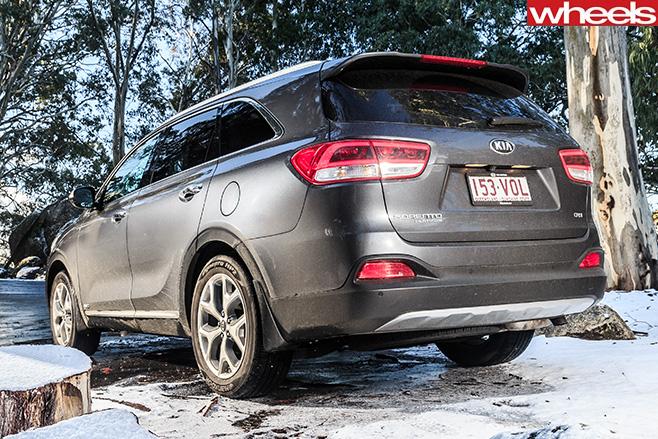 Kia -Sorento -in -snow -rear