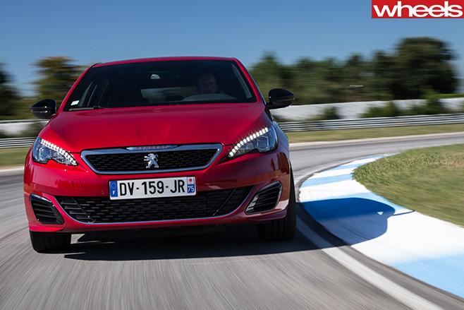 Peugeot -308-Gti -around -track