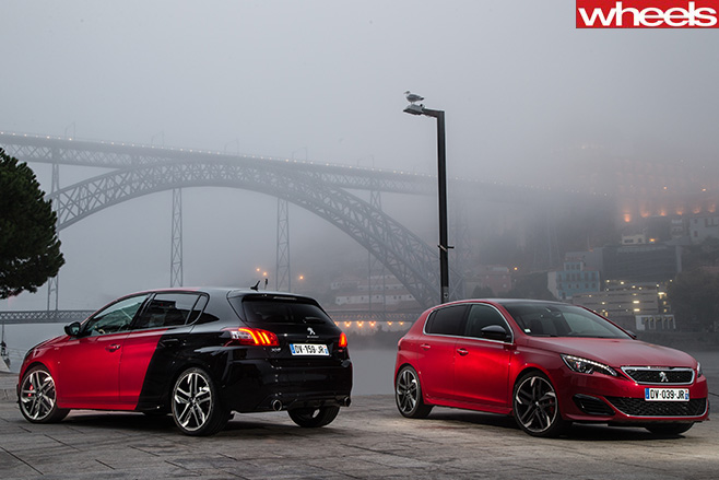 Peugeot -308-Gti -front -and -rear