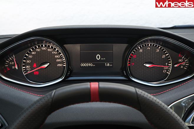 Peugeot -308-Gti -steering -wheel -and -tacho