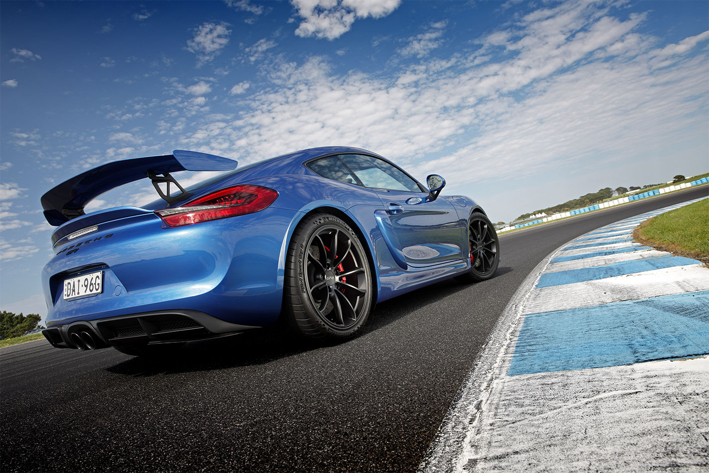 Porsche -Cayman -GT4-rear