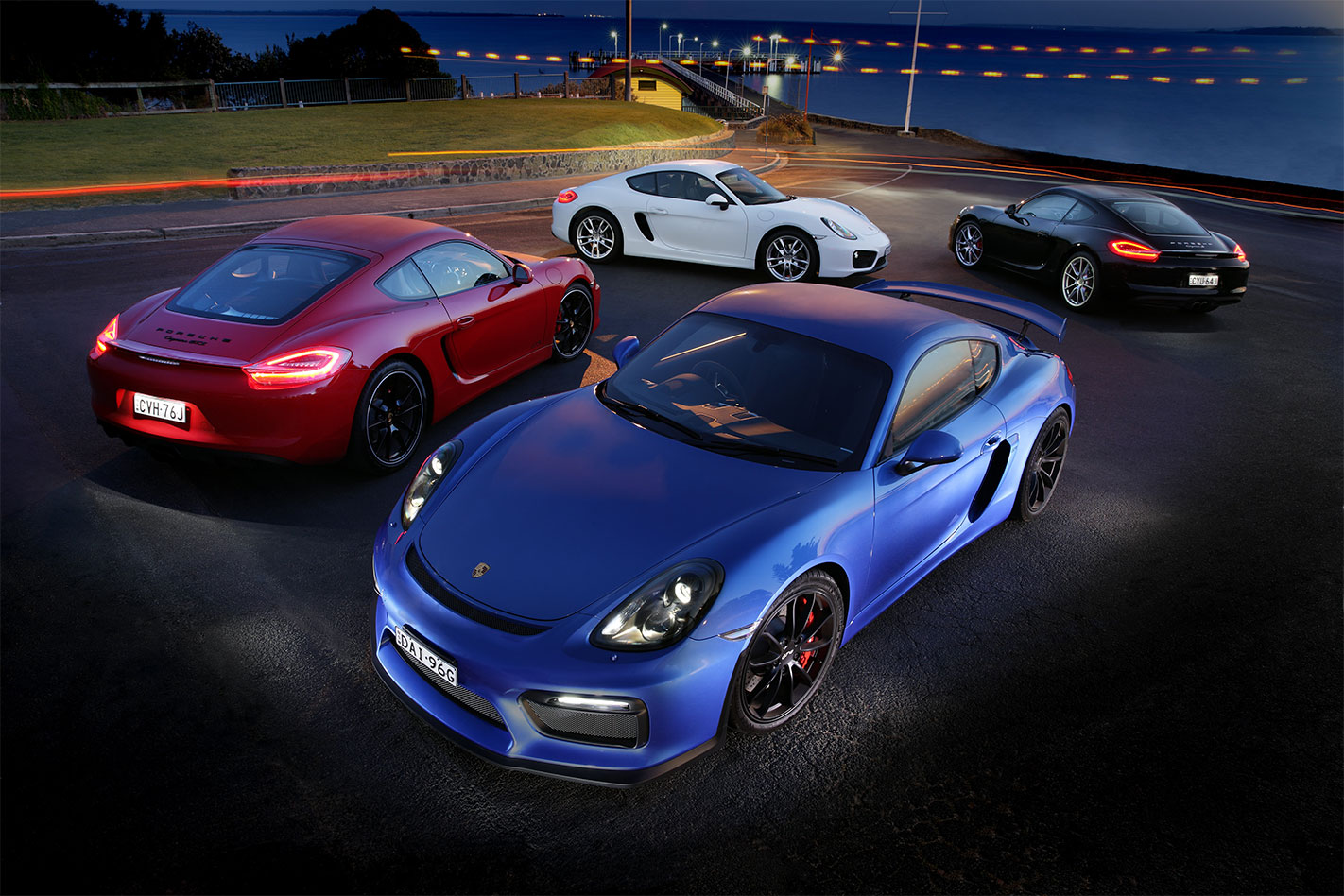 Porsche -Cayman -GT4-group -shot