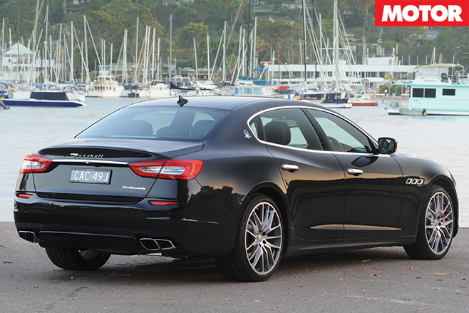 Maserati quattroporte GTS rear