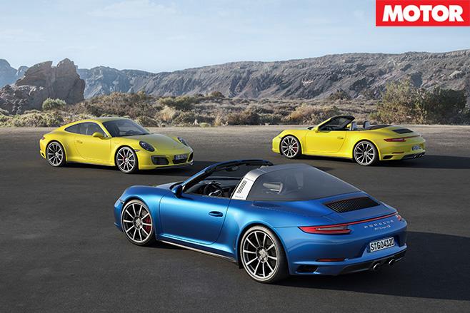 Porsche 911 Carrera 4 range