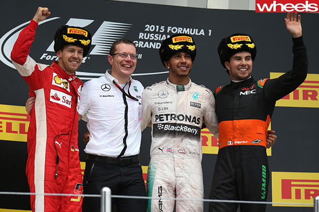F1-Russian -GP-podium
