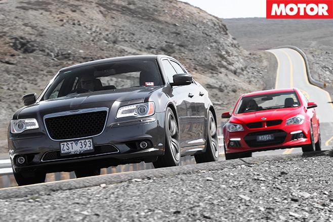 HSV clubsport v Chrysler 300 drive 3