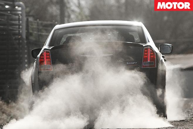 Chrysler 300 burnout