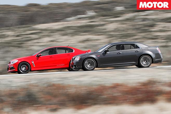 Hsv clubsport v Chrysler 300 drive 5