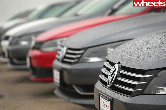 VW-Cars -Lined -Up -in -Carpark