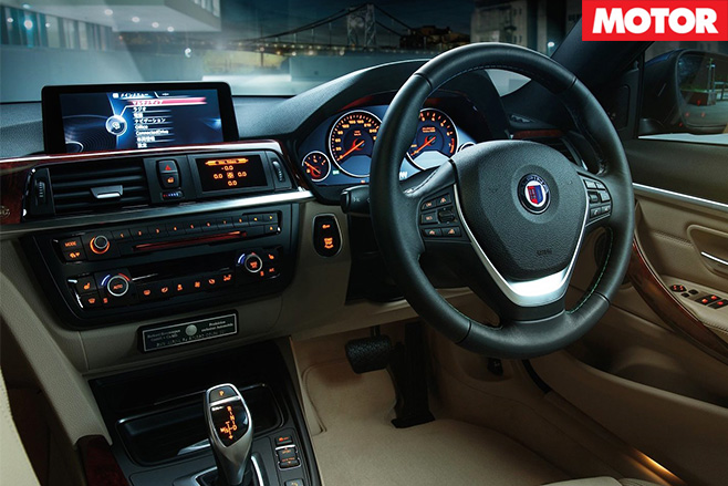 Alpina BMW B4 bi turbo coupe interior