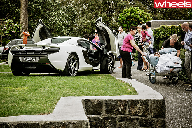 Mc Laren -650s -parked -outside -wilson -cottage