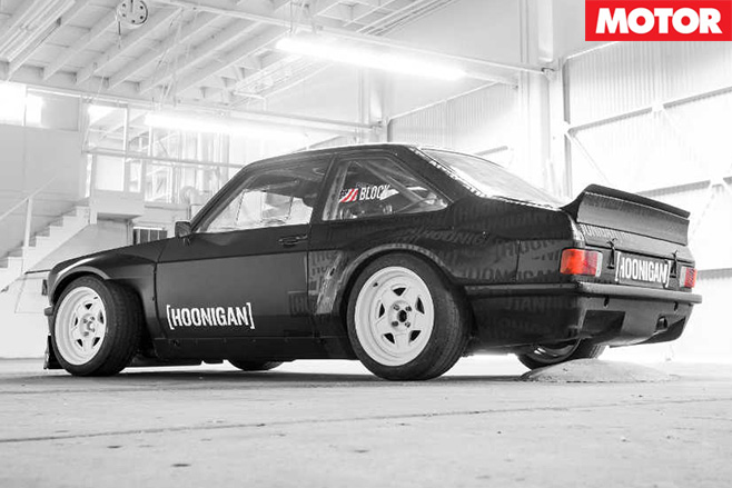 Ken Block's Gymkhana Escort rear