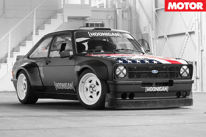 Ken Block's Gymkhana Escort side