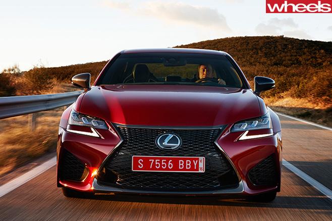 Lexus -GS-F-driving -front