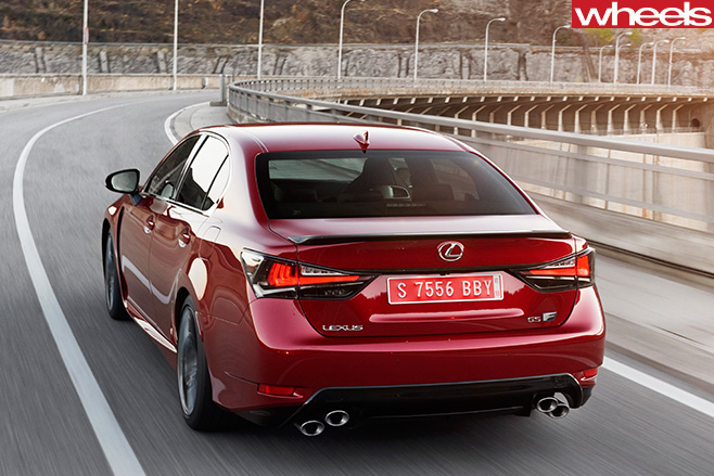 Lexus -GS-F-driving -rear