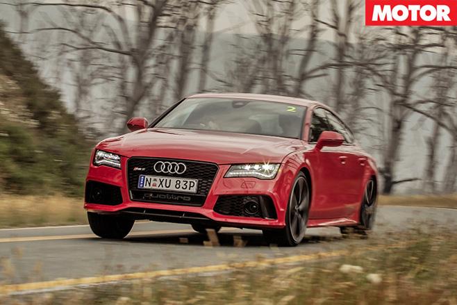 Audi rs7 sportback driving
