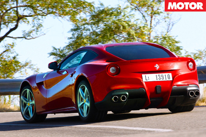 Ferrari f12 berlinetta rear shot