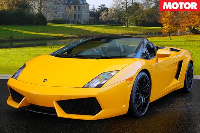 Lamborghini spyder yellow