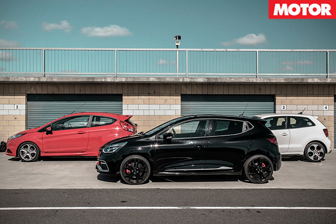 Clio RS vs Fiesta ST vs Polo GTI 4