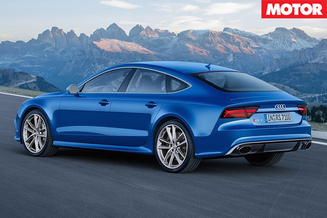 Audi rs7 performance rear
