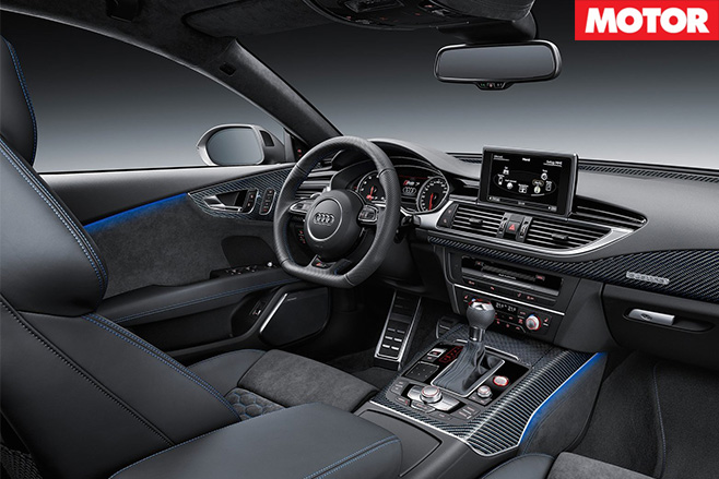Audi rs7 performance interior