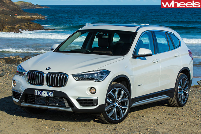 BMW-X1-front -at -beach