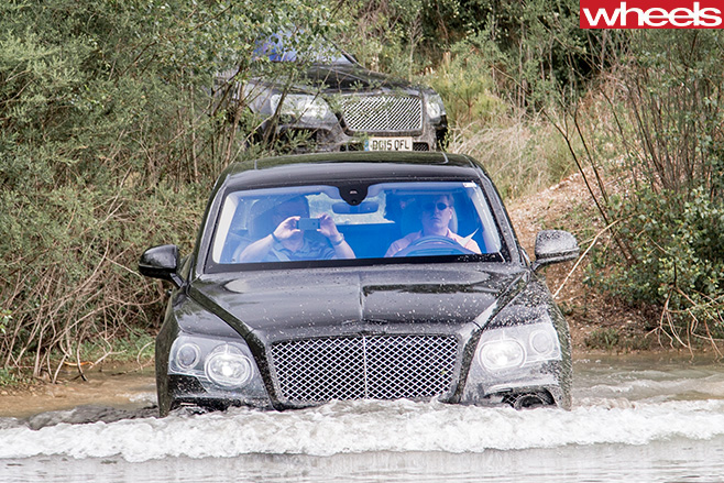 Bentley -Bentayga -wading -in -water