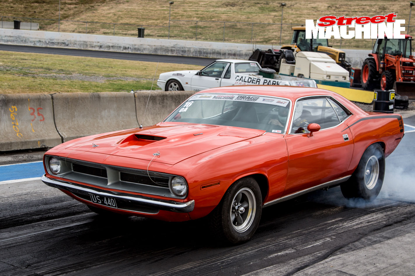 Plymouth Cuda Burnout 18