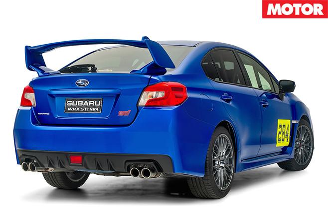 Subaru WRX STI NR4 rear