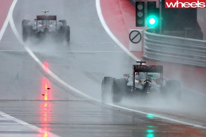 Formula -1-USA-raining