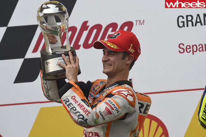 Pedrosa -on -podium -Moto -GP