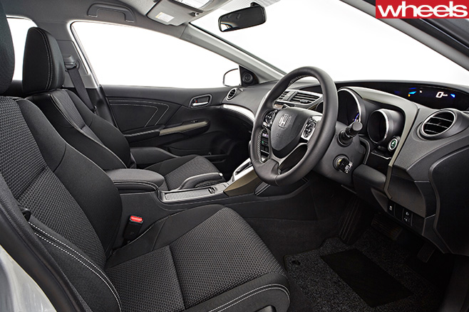 Honda -Civic -interior -seen -from -drivers -door
