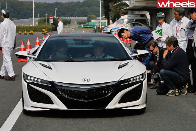Honda -NSX-parked -front