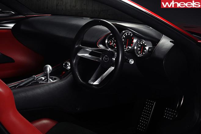 Mazda -RX-vision -concept -drivers -side -interior