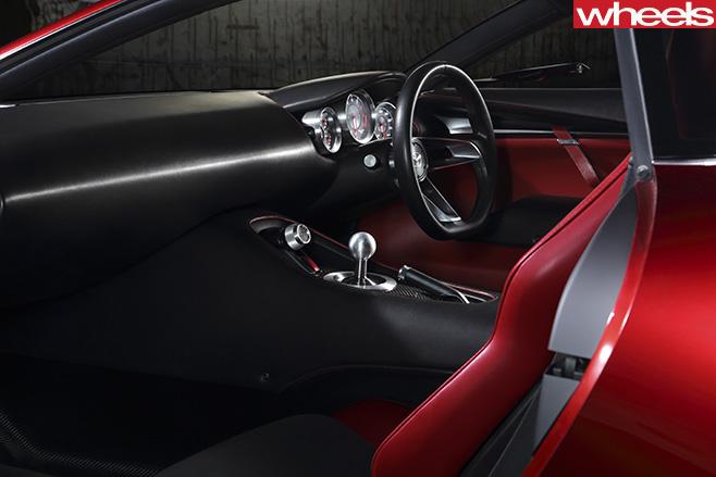 Mazda -RX-vision -concept -passenger -side -interior