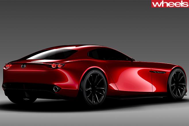 Mazda -RX-vision -concept --rear -side -profile